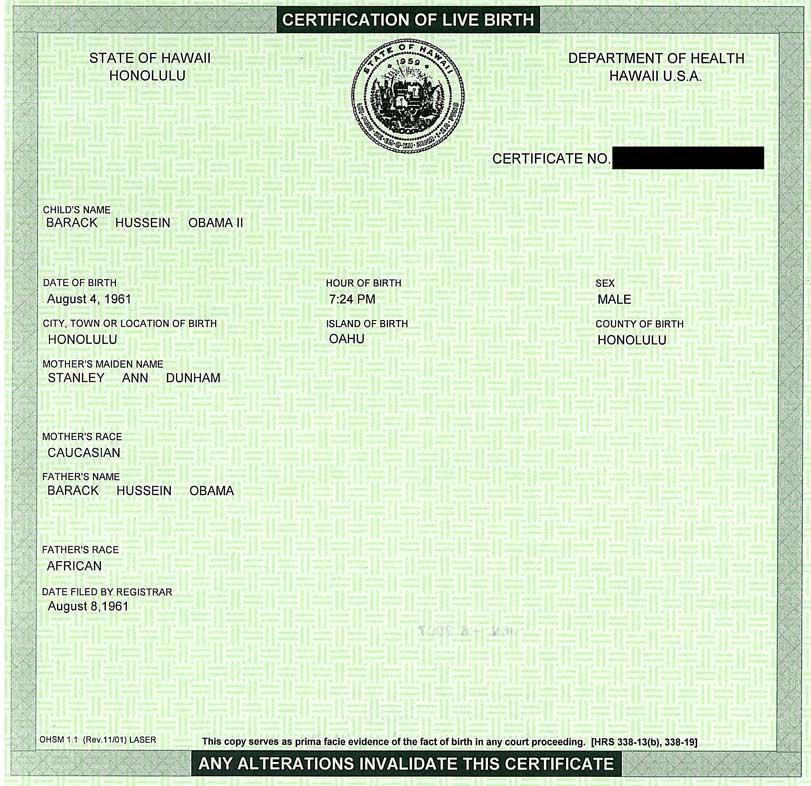 Donald Trump Birth Certificates Garcia Media Life
