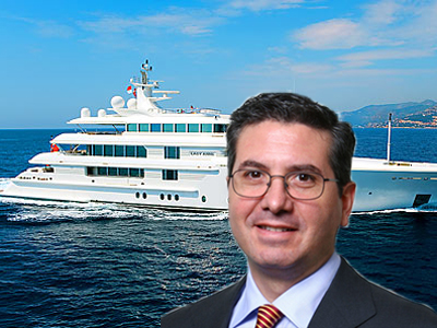 Snyder announces he is banishing himself to his $70 million yacht.